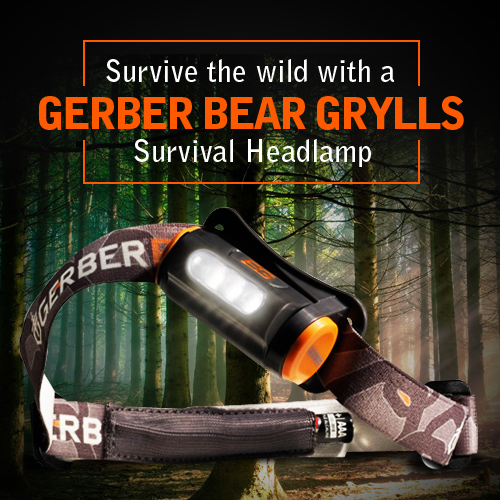 Blokes - Survive the wild with a Gerber Bear Grylls Survival Headlamp