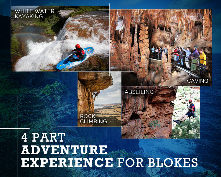 4 Adventure Passport – Melbourne: Abseiling, Rock Climbing, Caving & White Water Kayaking
