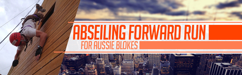 Abseiling Forward Run For Aussie Blokes