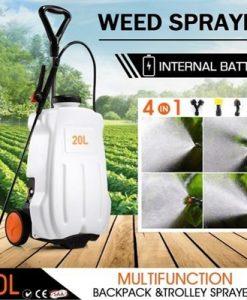 20L Weed Garden Wheel Backpack Sprayer w/4 Nozzle Pump Tank Hose Lance Belt