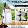 20L Weed Garden Backpack Sprayer w/4 Nozzle Pump Tank Hose Lance Belt
