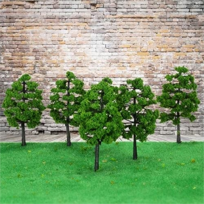 10 Pieces Plastic Model Trees Architectural Model Railroad Layout Garden  Landscape Scenery Doll Weddings Diorama Miniatures