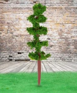 100 Pieces Plastic Model Trees Architectural Model Railroad Layout Garden Landscape Scenery Doll Weddings Diorama Miniatures