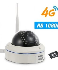 1080P 4G Wireless IP Camera IR-CUT Night Vision 3G GSM CCTV Camera