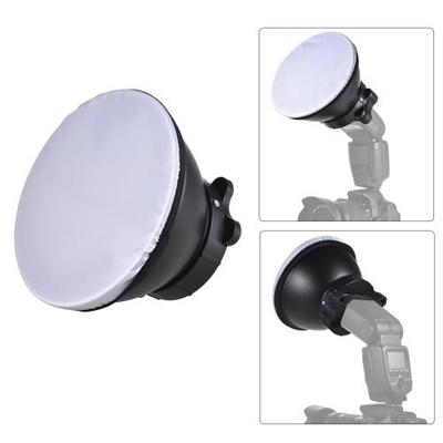 18cm Reflector Diffuser Lamp Shade with Soft Cloth for Canon Nikon Sigma Yongnuo Godox Andoer Neewer Vivitar Speedlight