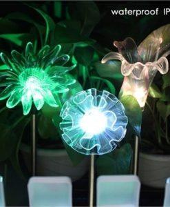 3 Pack Solar LED Lights Outdoor Garden Stake Lights