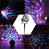 3W RGB LED Outdoor Lawn Garden Mini Crystal Magic Ball Project Lamp IP65 Water Resistant Stage Effect Light for Halloween Christmas Disco DJ KTV Club Bar Wedding Home Party