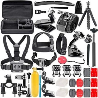 50pcs Camera Accessories Cam Tools for Outdoor Photography Cameras Protection Tool Set for GoPro Hero 6 5 4 3+ 3 2 1 Hero Session 5 Black AKASO EK7000 Apeman SJ4000 5000 6000