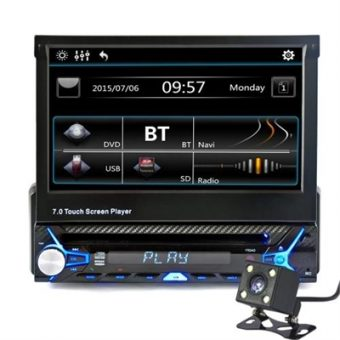 "7"" Single Din Car Video Audio MP5 Player with Rear View Camera"
