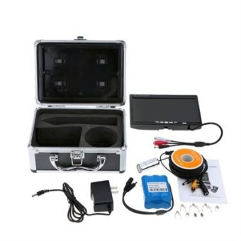"""7"""" TFT LCD Color Monitor 800TVL Portable Fish Finder HD Underwater Fishing Camera 20M Cable"""