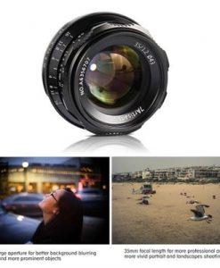 7artisans 35mm F1.2 Manual Focus Camera Lens Large Aperture APS-C for Fujifilm Fuji X-A1/X-A10/X-A2/X-A3/X-AT/X-M1/X-M2/X-T1/X-T10/X-T2/X-T20/X-Pro1/X-Pro2/X-E1/X-E2/X-E2s FX-Mount Mirrorless Cameras