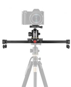 Andoer 40cm/15.7inch Aluminum Alloy Camera Video Slider Track Rail Stabilizer with Ball Head Quick Release Plate