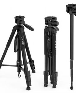 Andoer TTT-666R Camera Tripod Monopod Travel Portable Lightweight Tripod for Canon Nikon DV DSLR Camcorder with Carry Bag Max.Load 4kg
