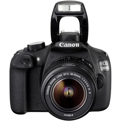 Canon - 24MP EOS 200D DSLR Camera Body with EFS 18-55mm f/4-5.6 STM Camera Lens - Black
