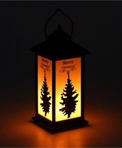 Christmas Flame Lamp Holiday Light Decoration Props