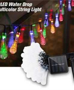 Decorative Solar Powered Lights 30LED Water Drop Multicolor String Light Waterproof Perfect for Indoor/Outdoor Decorations for Home,Patio, Lawn, Garden,Party,1 Pack