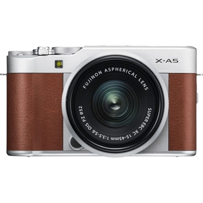 FujiFilm X-A5 Brown w/ XC15- 45mm Lens Compact System Camera