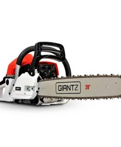 Giantz 62CC Commercial Petrol Chainsaw - Red & White [CSAW-62CC-20IN-RDWH]