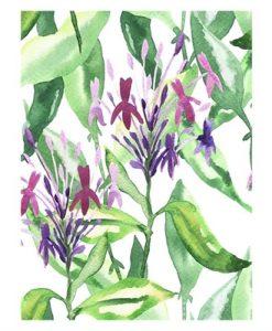 Hoxton Art House Botanical Garden Stroll Canvas Print (75x100cm)