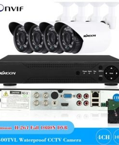 KKmoon 4CH H.264 Full 1080N DVR +4*1500TVL Waterproof CCTV Bullet Camera+ 4*60ft Surveillance Cable + 1TB Seagate Hard Drive