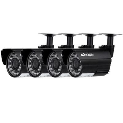 KKmoon 4pcs AHD 720P Weatherproof CCTV Cameras Kit IR CUT Color CMOS Home Security System 3.6mm