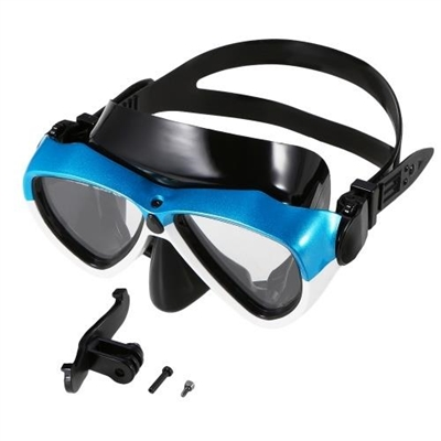 Lixada Anti-fog Snorkeling Goggles Mask Scuba Diving Snorkel Swimming Goggles Glasses with Camera Mount