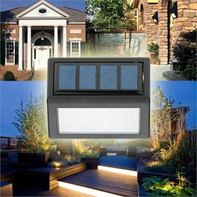 Lixada Rechargeable Solar Power 6 LEDs 0 36W 12LM Lamp Light Sensor Wall  Mount for Garden Door Entrance Yard Pathways Outdoor Use Warm White