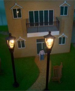 Model Single Head Garden Lamps 1:100