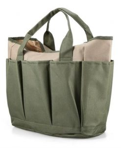 Multi-purpose Gardening Tote Bag Home Garden Tool Organizer Utility Storage Bag 9 Pockets