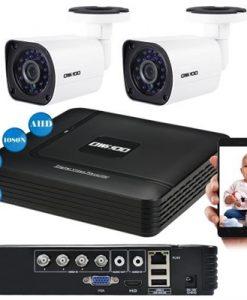 OWSOO 4CH 1080N DVR + 2pcs AHD 720P Bullet PAL System CCTV Camera