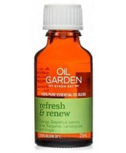Oil Garden Refresh & Renew Pure Essential Oil Blends 25ml