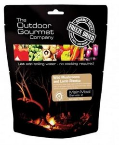 Outdoor Gourmet Wild Mushrooms and Lamb Risotto Freeze Dried Food - Double Serve