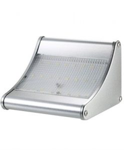 Outdoor Solar Light 24 LED 450 Lumen PIR Motion Sensor with Aluminum Alloy Housing Waterproof Security Lights for Garden Yard Pathway Patio