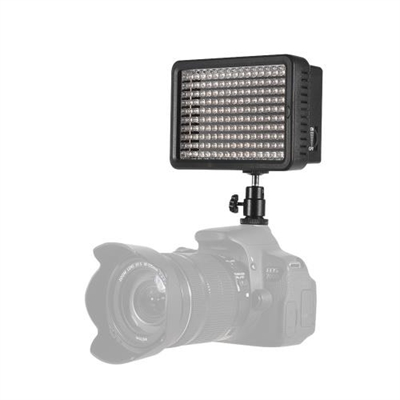 Professional Dimmable Ultra High Power LED Video Light 5600K Photography Fill Light 160 LEDs Beads CRI 95+ with Color Filters for Canon Nikon Sony Pentax Olympus DSLR Camera Camcorder