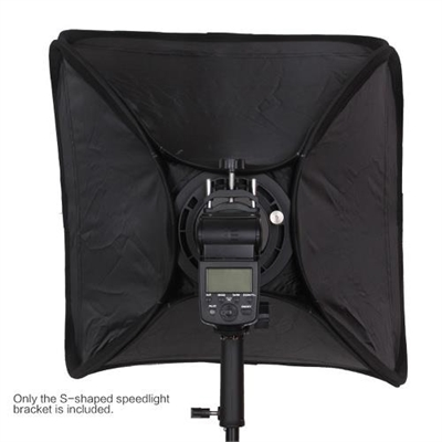 S-shaped Handheld Grip Portable Bowens Mount Speedlight Bracket for Flashlight Softbox Support Reflective Umbrella and other Photography Studio Accessories