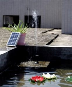 Small Type Landscape Pool Garden Fountains 9V 2W Solar Power Decorative Fountain Water Pump