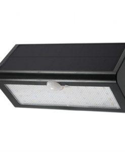 Solar Outdoor Light 46 LED 800 Lumen PIR Motion Sensor Light Waterproof and Wireless Wall Garden Yard Pathway Fence Light in Black (Warm White)