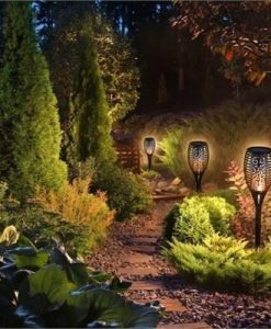 Solar Power Torch Flame Light Outdoor Landscape Lamp