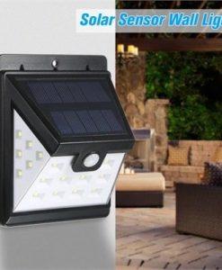 Solar Sensor Wall Lights, Super Split 22LED Waterproof Solar Powered PIR Motion Sensor Energy Saving Night Lights for Garden, Fence, Patio, Driveway