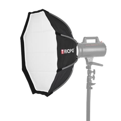 TRIOPO 65cm Foldable 8-Pole Octagon Softbox with Soft Cloth Carrying Bag Bowens Mount for Studio Strobe Flash Light