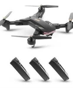VISUO XS809S 0.3MP Camera Foldable 20mins Flight Time SHARKS Drone Wifi FPV RC Quadcopter RTF w/ Three Batteries