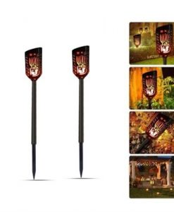 LED Waterproof Outdoor Solar Flame Flickering Lawn Lamps
