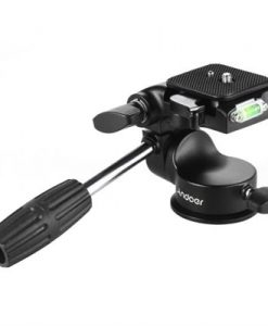 Andoer 3-Dimensional Fluid Drag Camera Photographic Head Aluminum Alloy Hydraulic Damping Head w/ Bubble Level Handle for Canon Nikon Sony DSLR for Tripod Monopod Slider