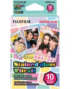 Fujifilm Instax Mini - Stained Glass Instant Film (10 Sheets)