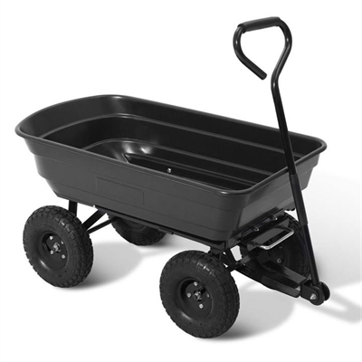 Gardeon 75L Garden Dump Cart - Black