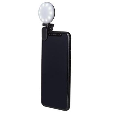 Celly Selfie Light - Black Clip-On Universal LED for Smartphones