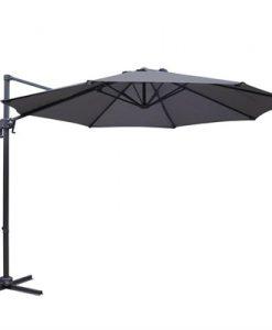Instahut 3M Roma Outdoor Furniture Garden Umbrella 360 Degree Charcoal