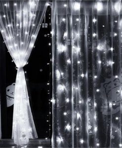 LED Curtain Lights Wedding Indoor Outdoor Christmas Garden Party - Cool White