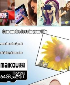 MaiKou High Speed TF Card Micro SD Cards Phone Memory Card 16GB&Adapter