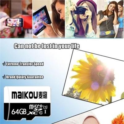 MaiKou High Speed TF Card Micro SD Cards Phone Memory Card 16GB&Adapter